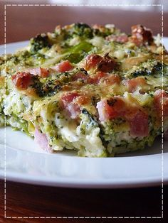 Kouzlo mého domova: Brokolicový nákyp No Salt Recipes, Low Carb Recipes, Snack Recipes, Cooking Recipes, Healthy Recipes, A Food, Good Food, Food And Drink, Czech Recipes