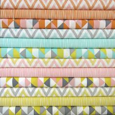 Collection by Michelle Engel Bencsko, Simpatico, featuring modern patterns in subtly bright hues.