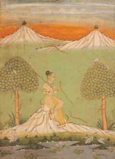 magictransistor:  Asavari Ragini (Ragamala painting from Bikaner), Rajasthan, India,  c. 1750.