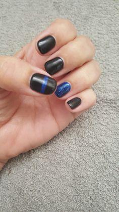 Thin Blue Line Nails LEO Wife