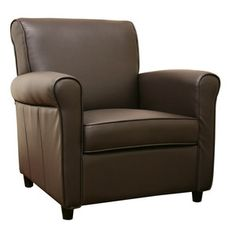 Club Chair Brown now featured on Fab.