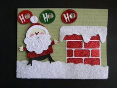 Cute holiday card with simply charmed cartridge