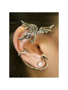 Game of Thrones Inspired Dragon Ear Wrap  Guardian by martymagic
