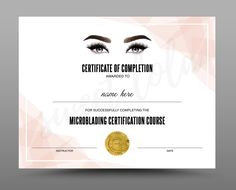 designs made with love by SweetLolaDesign on Etsy Certificate Layout, Certificate Of Achievement Template, Certificate Design Template, Report Card Template, Training Certificate, School Report Card, Lash Room, Certificate Of Completion, Word Doc