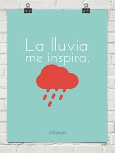 La lluvia me inspira. #147529