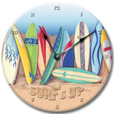 this is a great clock the only thing i would change is putting layers on the surfboards