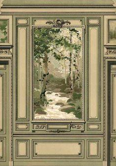 Georges Rémon - Décorateur - Planches Couleur - Moulures - Vers 1900