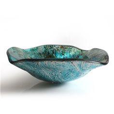 (EU Lager)Glas Waschbecken Modern Lotusblatt Design