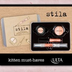 Kitten Must-Haves from @stilacosmetics is the purr-fect addition to any makeup addict's bag! Only at ULTA. #ulta #ultabeauty