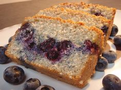 Blueberry and Almond Cake. No Sugar. No Butter. No Flour.