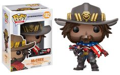 * From Overwatch, McCree, as a stylized POP vinyl from Funko!* Stylized collectible stands nearly 10 cm tall, perfect for any Overwatch fan! * Collect and display all Overwatch POP! Figurines Funko Pop, Funko Pop Figures, Vinyl Figures, Action Figures, Anime Figures, Overwatch Pop Vinyl, Overwatch Pop Figures, Overwatch 2, Overwatch Memes