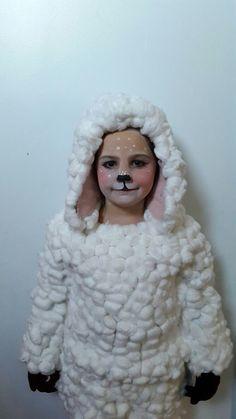 makeup for sheep face Kids Sheep Costume, Baby Lamb Costume, Sheep Costumes, Nativity Costumes, Toddler Costumes, Animal Costumes, Christmas Costumes, Halloween Costume Contest, Halloween Costumes For Kids