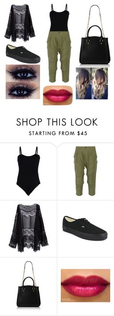 """""""Untitled #131"""" by lizbeth-ruelas ❤ liked on Polyvore featuring Baguette....., NLST and Vans"""