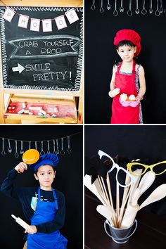 Modern Bistro Inspired Top Chef Birthday Party- Photo Booth Idea