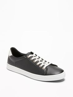 Faux-Leather Classic Sneakers for Women a547676bfce