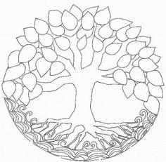 tree of life mandala. would make a great family tree pattern.:
