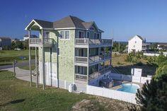 A Krazy Dream: 5 Bedroom, 3 1/2 Bath - Private Heated Pool - Pet Friendly! - Oceanside - Waves NC