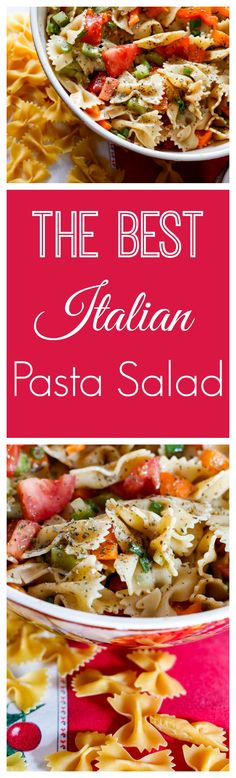 Italian Pasta Salad I love this Italian pasta salad. Colorful, filled with good vegetables I often prepare this recipe for my kids lunches . Flavor and pleasure guaranteed! Find the recipe here : http://www.nobletandem.com/italian-pasta-salad/
