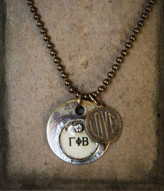My Sorority Necklace. $42.00, via Etsy.