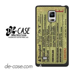 Original Disneyland Ticket DEAL-8310 Samsung Phonecase Cover For Samsung Galaxy Note Edge