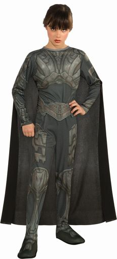 Faora Tween Girls Costume - Officially Licensed Superman Man of Steel Kids Costumes