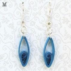 Handmader paper filigree quilling earrings : BarbaraDin -...