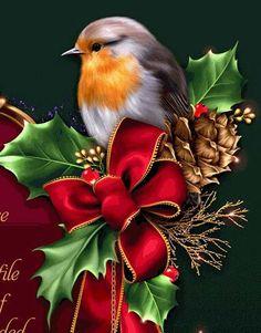 kerst roodborstje