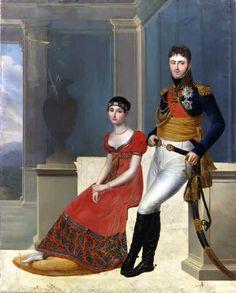 The Prince Borghese and his wife Pauline Bonaparte by Francois Joseph Kinson, 1802-10