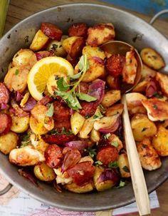 Unser beliebtes Rezept für Hähnchen-Chorizo-Pfanne und mehr als 55.000 weitere kostenlose Rezepte auf LECKER.de.