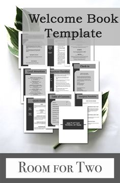 Vacation Rental Package The best templates to create the perfect welcome book for your vacation home. Airbnb Flipkey Homeaway ($40-$55) RoomForTwo welcome booklet examples, vacation home book, rental package