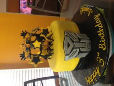 Transformer Birthday Cake.