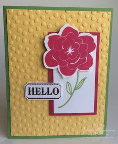 Stampin' Up! Simple Stems Card Elaine's Creations