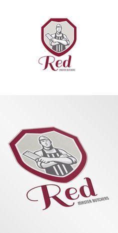 Check out Red Master Butchers Logo by patrimonio on Creative Market