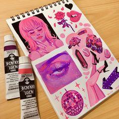 Art Drawings Sketches, Cute Drawings, Colorful Drawings, Aesthetic Painting, Aesthetic Art, Posca Marker, Marker Art, Arte Grunge, Posca Art