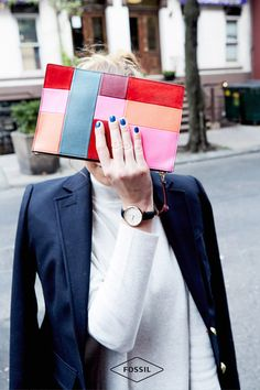 One accessory you'll never want to leave the house without. These colorful leather zip pouches make it easy to dress up a cute outfit for holiday dinner parties or Christmas morning with the family. Carry it in a tote or on its own as a stylish clutch...it's the must-have gift to give because it's the perfect companion for any occasion.