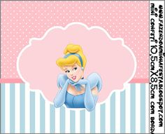 Cinderela - Kit Completo com molduras para convites, rótulos para guloseimas…
