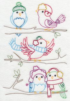 Weathering the Winter Vintage Machine Embroidery Designs at Embroidery Library! Hand Embroidery Stitches, Embroidery Files, Embroidery Applique, Cross Stitch Embroidery, Machine Embroidery Designs, Embroidery Patterns, Cross Stitch Patterns, Paper Embroidery, Doily Patterns