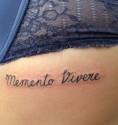 "Memento Vivere ""remember to live"" Tattoo i got while in Amsterdam!"