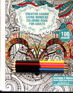 Creative Charm Living Wonders Coloring Book For Adults Set is available at Scrapbookfare.