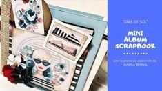 """Tutorial scrapbooking mini álbum#colección """"días de sol"""" de MARISA BERNAL Aliexpress Scrapbooking, Mini Scrapbook Albums, Mini Albums, Printables, Tips, Youtube, Ideas, Sun, Facts"""