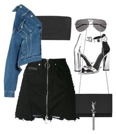 """""""Untitled #4844"""" by amm-xo ❤ liked on Polyvore featuring County Of Milan, Balmain, Kendall + Kylie, Balenciaga and Yves Saint Laurent"""