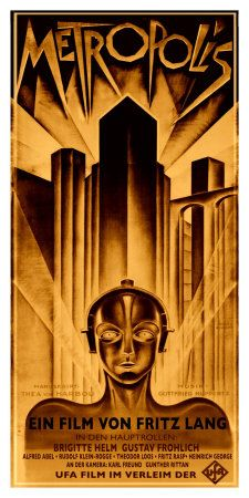 From the classic dystopian movie, Metropolis.  1926 art print, by Schulz-Neudamm From allposters.com for about $75.