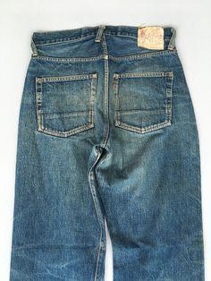 Ripped Denim, Distressed Denim, Evisu, Honeycombs, Button Fly Jeans, Vintage Levis, Blue Jeans, Mom Jeans, Japan
