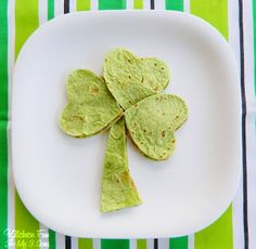 St. Patrick's Day shamrock quesadillas