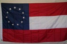 EMBROIDERED STARS GENERAL ROBERT E LEE HEADQUARTERS FLAG 3X5 NYLON
