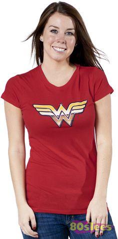 Golden Logo Wonder Woman T-Shirt