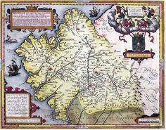 Mapa do reino de Galicia de é considerado como o primeiro mapa impreso de Galicia, que se debuxa separadamente foi feito polo dominico Hernando Foi impreso en Amberes, onde se atopaban os talleres de cartografía máis avanzados de Europa nesa época. Vintage World Maps, Fantasy, Explore, Poster, People, Printables, Twitter, Rpg, Cartography