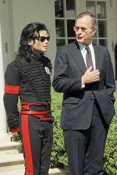 Michael Jackson y George H. Bush #RockandPolitics