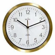 Acctim Kenton Sweep Brass Wall Clock 27978
