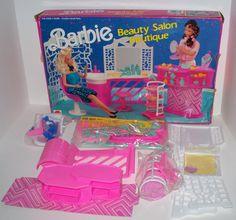 1990 MATTEL-ARCO TOYS BARBIE BEAUTY SALON BOUTIQUE PLAYSET #7275~Damaged Box~